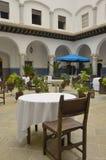 Restaurant in patio Stock Images