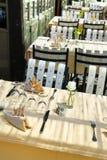 Restaurant patio Stock Photo