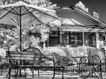 Restaurant patio dining Stock Image