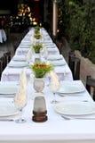Restaurant patio tables Stock Photos