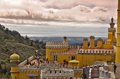 Restaurant in Pena Palace in Sintra Stock Photo