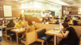 Restaurant with people. Stock Photography