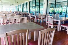 Restaurant without people, In poor economic conditions Most cust Royalty Free Stock Image