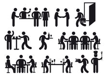 Restaurant pictograms Stock Photography