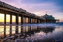 Pier. A restaurant on a pier in the sea Stock Photos