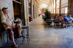 Restaurant Placa Reial Barcelona Lizenzfreie Stockbilder
