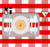 Restaurant placement card Royalty Free Stock Photo