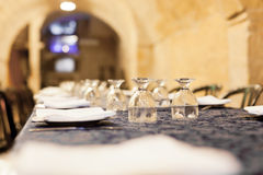 Restaurant Placesetting Royalty Free Stock Photos