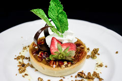 Restaurant Plated Dessert Royalty Free Stock Photo