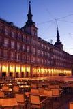 Restaurant on Plaza Mayor Stock Photo