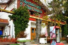 Restaurant in Poiana Brasov Stock Foto's
