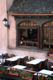 Restaurant on Ponts Couverts, France Royalty Free Stock Photography