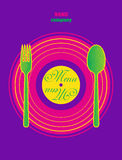Restaurant Pop Art Menu Design. Vector illustration stock illustration