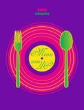 Restaurant Pop Art Menu Design. Royalty Free Stock Photo