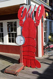 Restaurant portuaire de homard dans le port historique de barre photo libre de droits