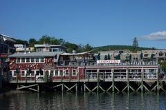 Restaurant portuaire de homard dans le port historique de barre image libre de droits