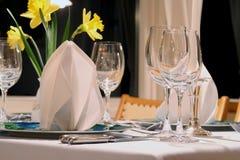 Restaurant prêt de dîner images libres de droits