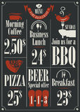 Restaurant  price list Royalty Free Stock Image