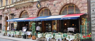 Restaurant Prinsen. At Mäster Samuelsgatan in Stockholm royalty free stock images