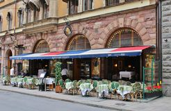 Restaurant Prinsen. At Mäster Samuelsgatan in Stockholm stock photography