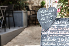 Restaurant in Provence Royalty Free Stock Photos