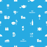 Restaurant and pub seamless pattern eps10 Royalty Free Stock Photo