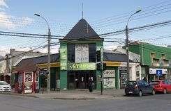 Restaurant in Punta Arenas, Chile Lizenzfreies Stockbild