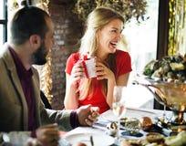 Restaurant refroidissant le concept réservé de mode de vie chic Photographie stock libre de droits