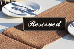 Restaurant reservation concept Royalty Free Stock Images