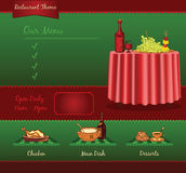 Restaurant retro template Royalty Free Stock Images
