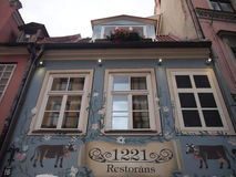 Restaurant in Riga's historic centre (Latvia) Royalty Free Stock Images