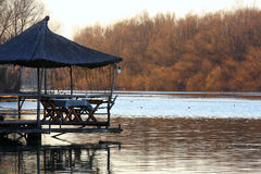 Restaurant on the river Stock Photography