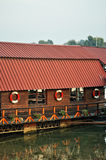 Restaurant on the river Stock Image