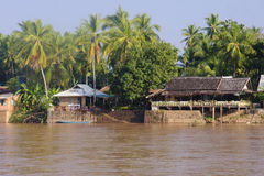 Restaurant on the River Mekong in Don Khon Royalty Free Stock Images
