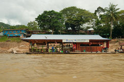 Restaurant on the river Royalty Free Stock Photo