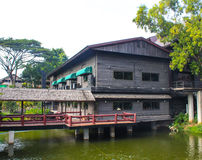 The Restaurant by the river. In thailand Royalty Free Stock Image