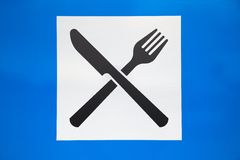 Restaurant road sign Royalty Free Stock Photography