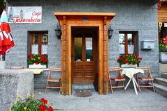 Restaurant at roadside Royalty Free Stock Images