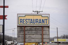 Restaurant on the Roadside. A restaurant, bar and greasy spoon diner on the side of a interstate and highway royalty free stock photos