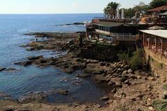 Restaurant on the beach Stock Image
