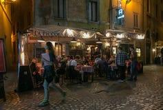 Restaurant romain près de Piazza Navona, Italie Photographie stock libre de droits