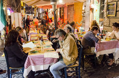 Restaurant in Rome Stock Image