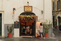 Restaurant in Rome around Trastevere. Stock Photography