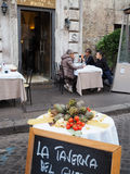 Restaurant in Rome Royalty Free Stock Photography