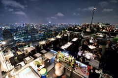 Restaurant at the Rooftop, Bangkok Royalty Free Stock Photo