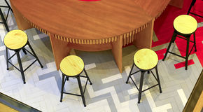 Restaurant round table and chairs Stock Image