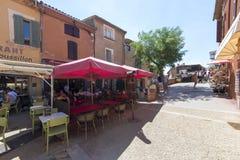 Restaurant in Roussillon, Frankreich Lizenzfreies Stockfoto