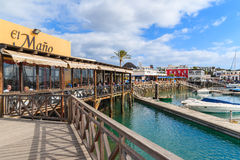 Restaurant in Rubicon port Royalty Free Stock Photo