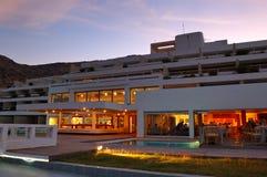 Restaurant's illumination of luxury hotel Royalty Free Stock Photos