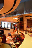Restaurant's Kitchen corner view at Dubai Mall, Dubai stock photo